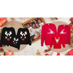 Cadoul perfect! Seturi tricouri și bluze de familie de Crăciun.