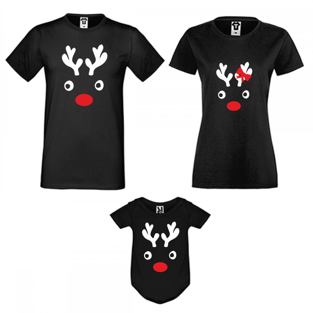 Set de Crăciun pentru familie pe negru Christmas Elk