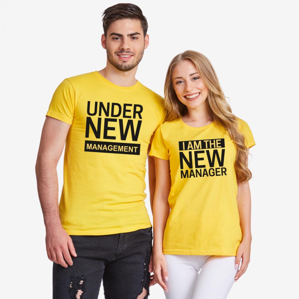 Tricouri pentru cupluri New Manager
