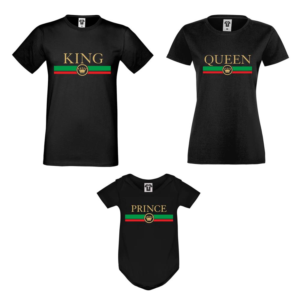 Set tricouri si body pentru familie King - Queen - Prince RG