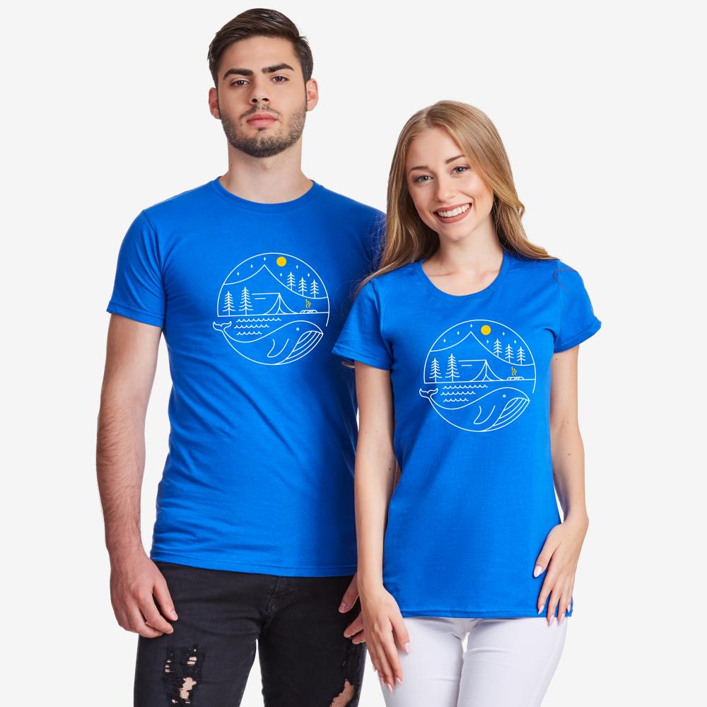 Set pentru cuplu Camping Couple albastru