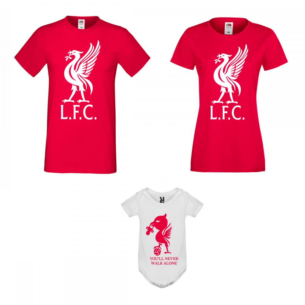 Set tricouri si body pentru familie  Liverpool