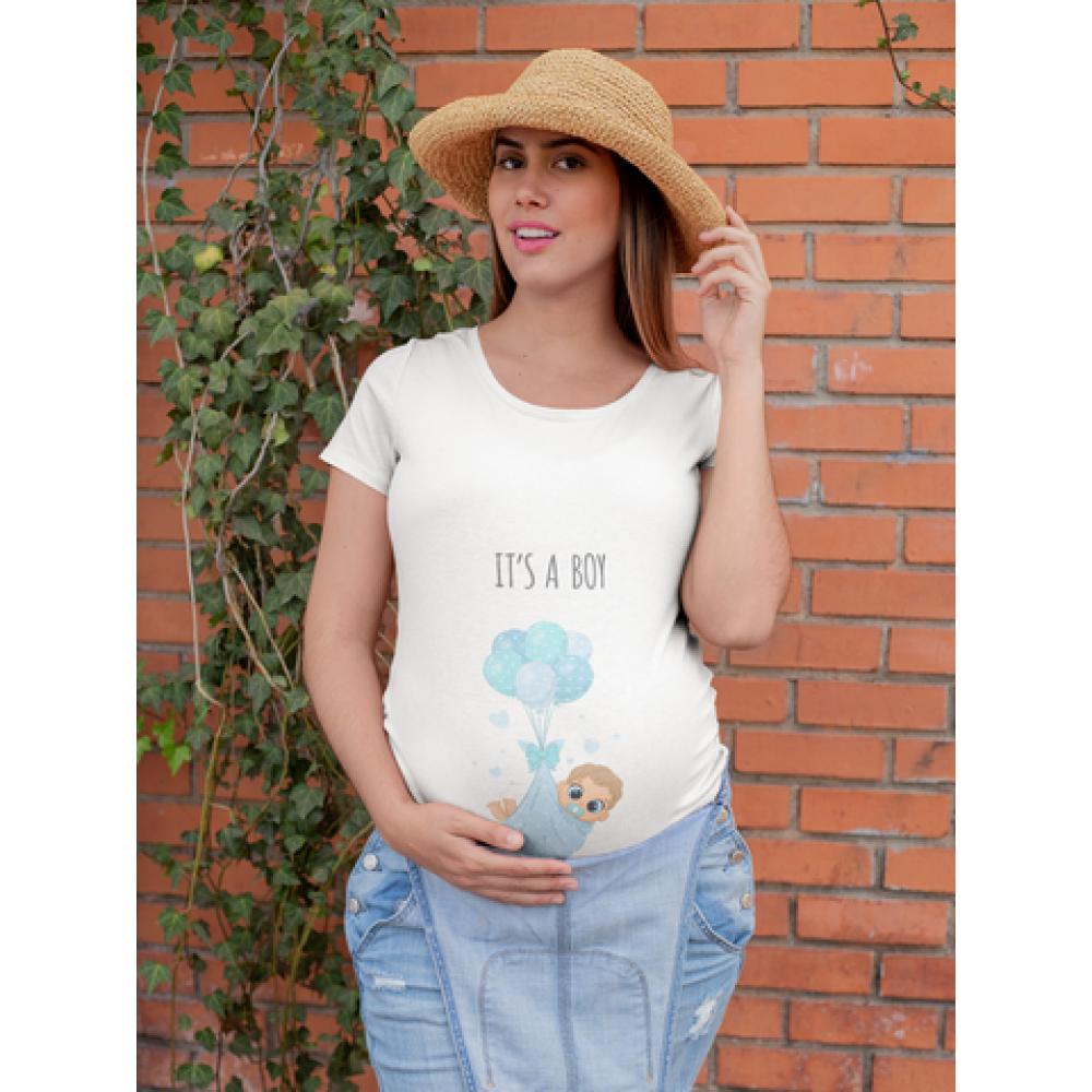 Tricou pentru femei gravide  It's a boy