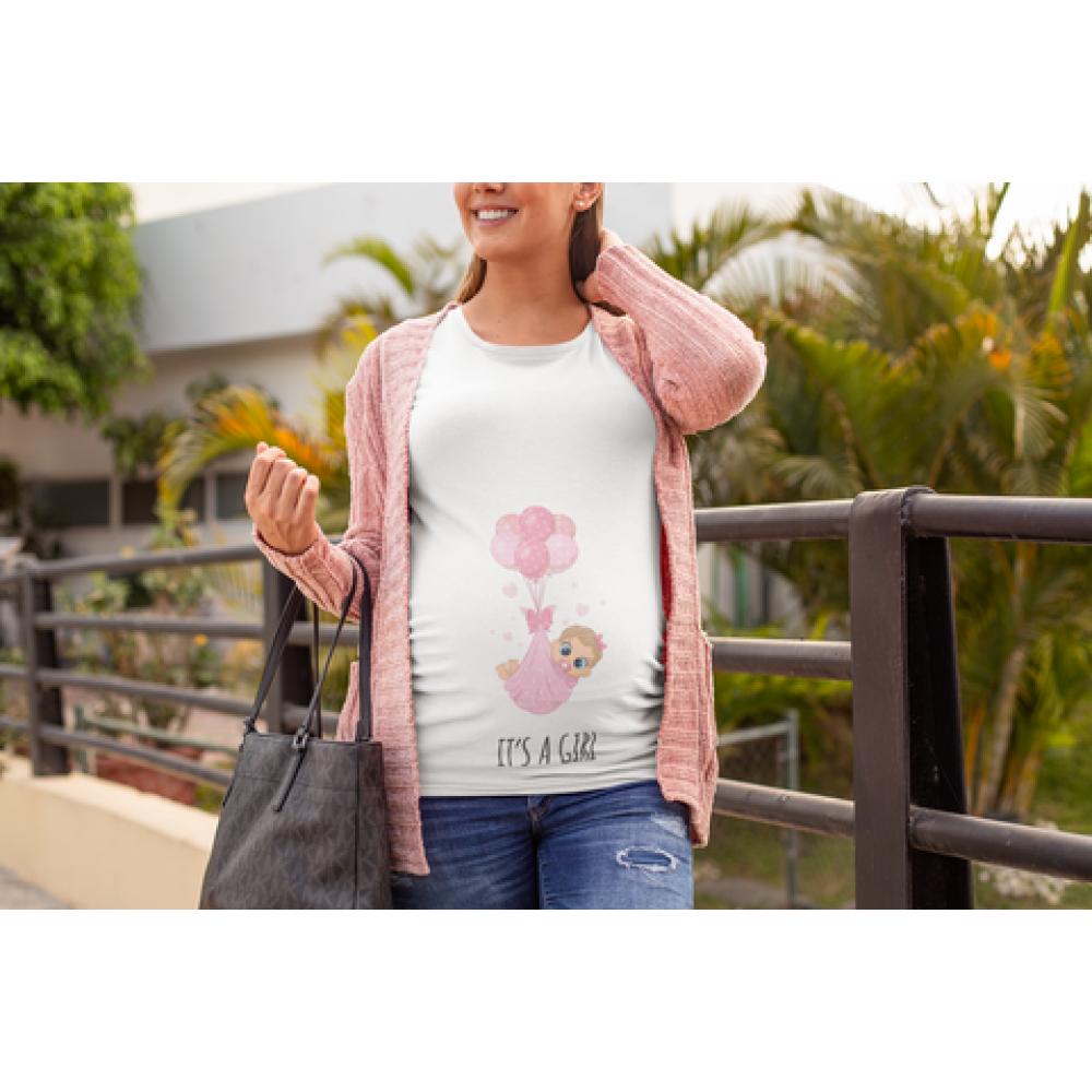 Tricou pentru femei gravide It's a girl