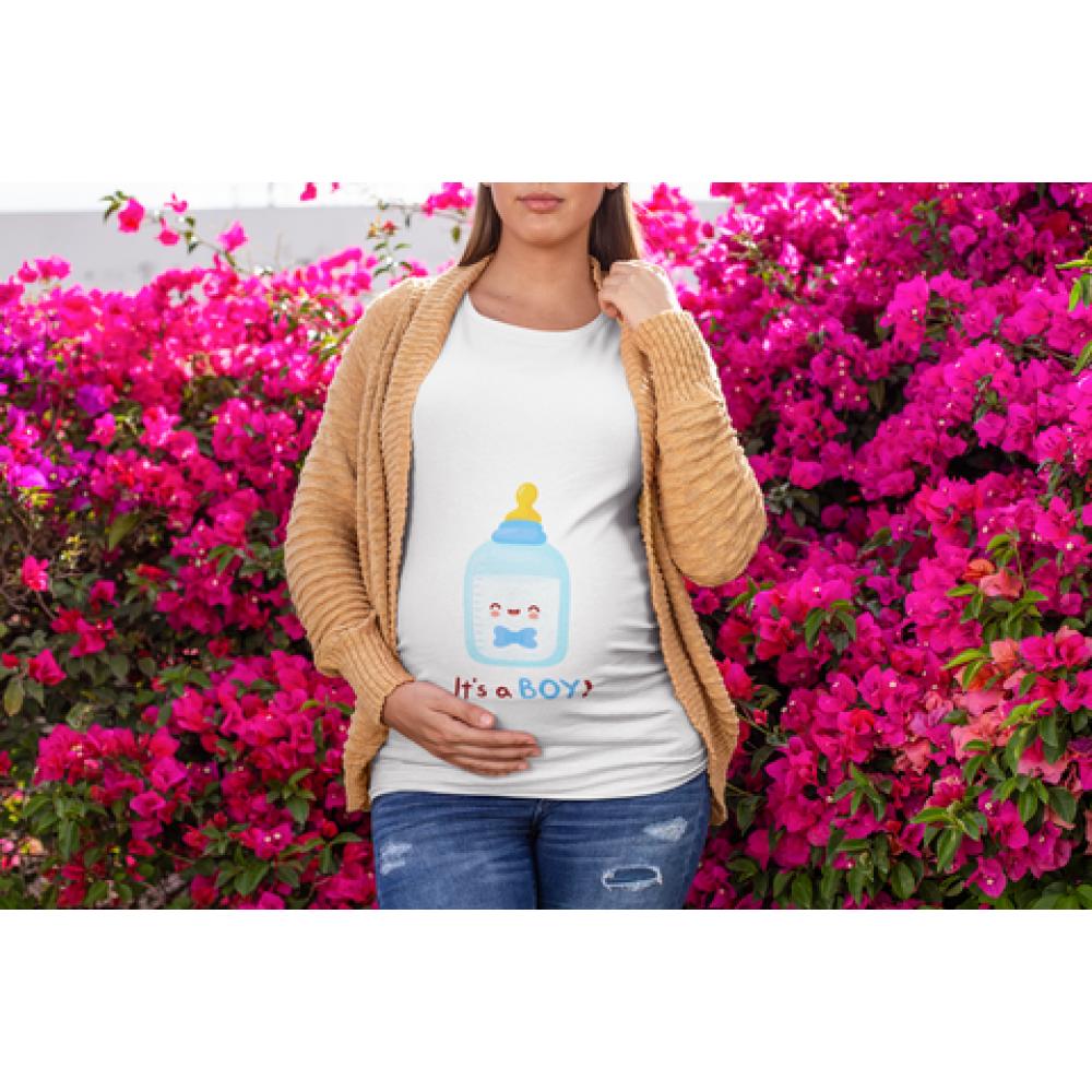 Tricou pentru femei gravide Bottle Boy