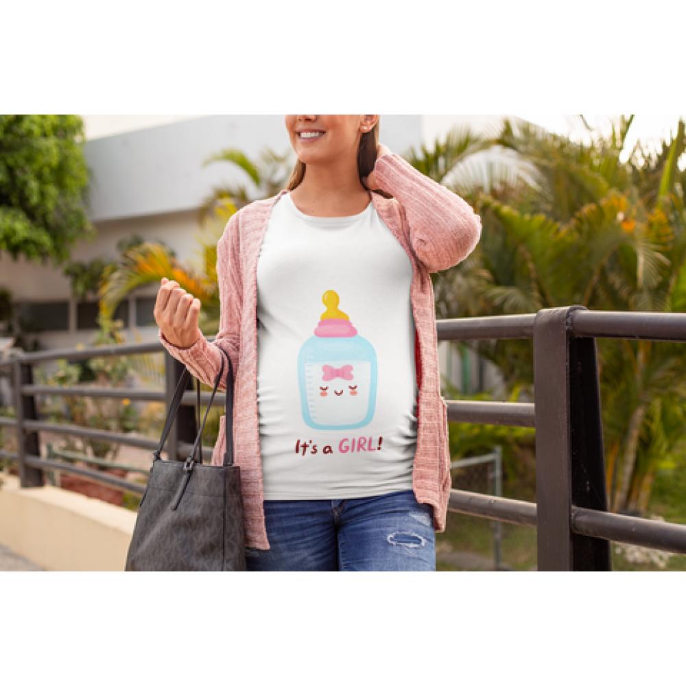 Tricou pentru femei gravide Bottle Girl