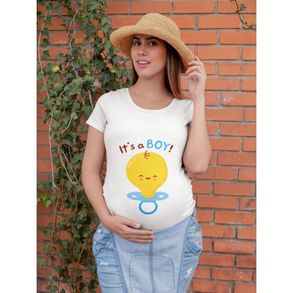 Tricou pentru femei gravide Pacifier Boy
