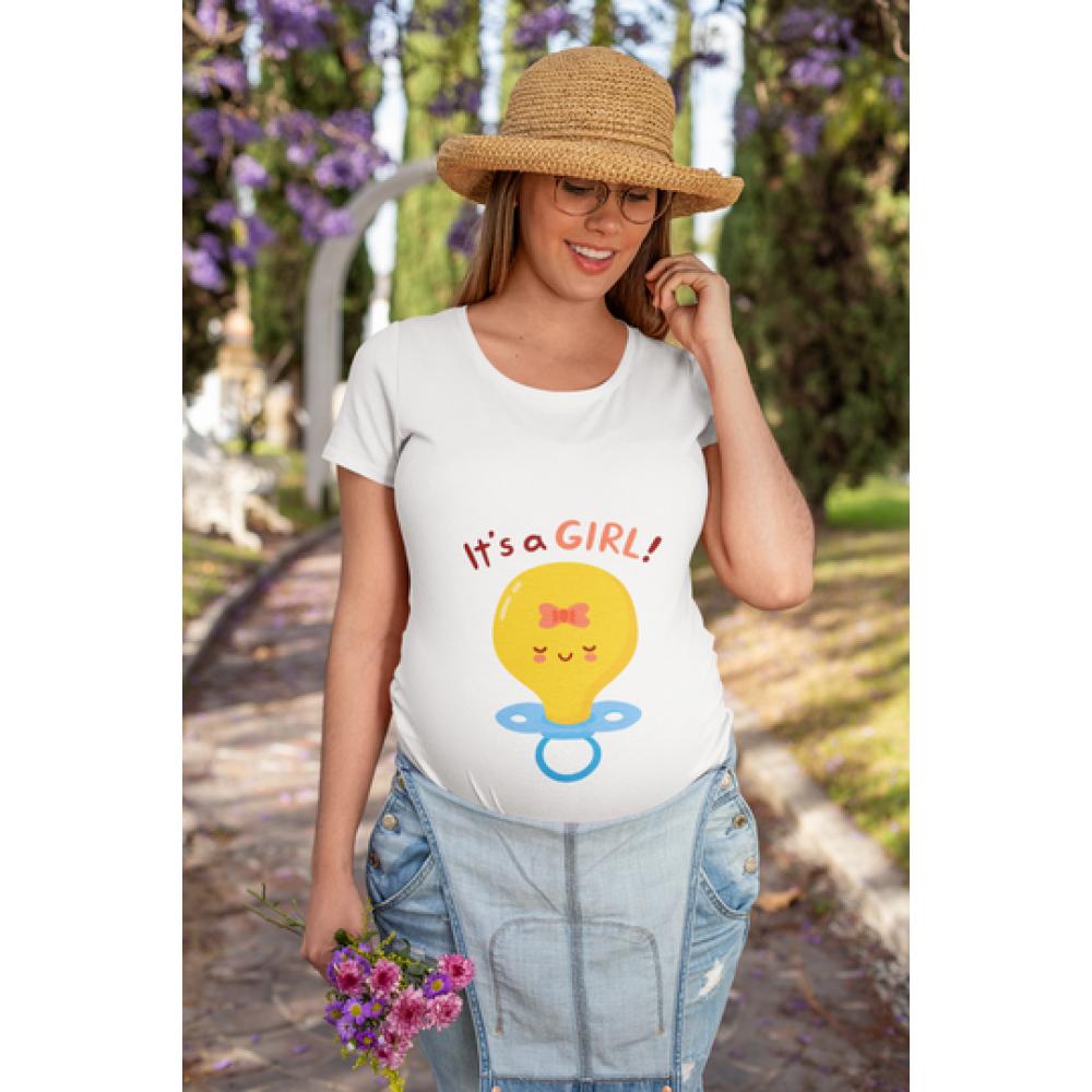 Tricou pentru femei gravide Pacifier Girl