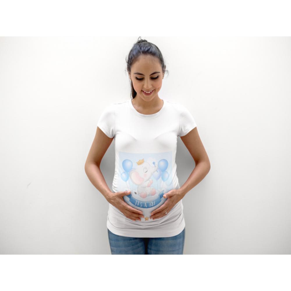 Tricou pentru femei gravide Elephant Boy