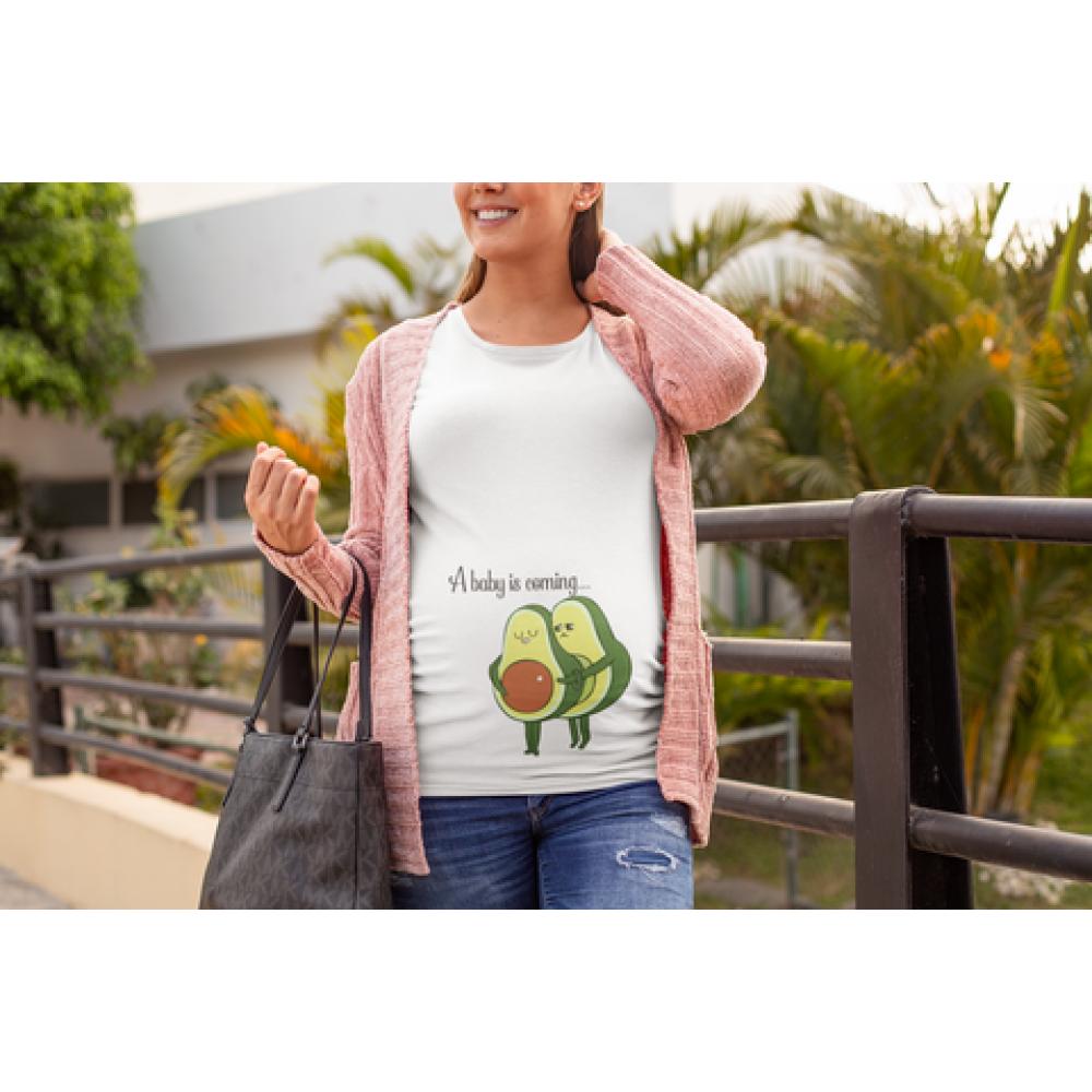 Tricou pentru femei gravide Avocado