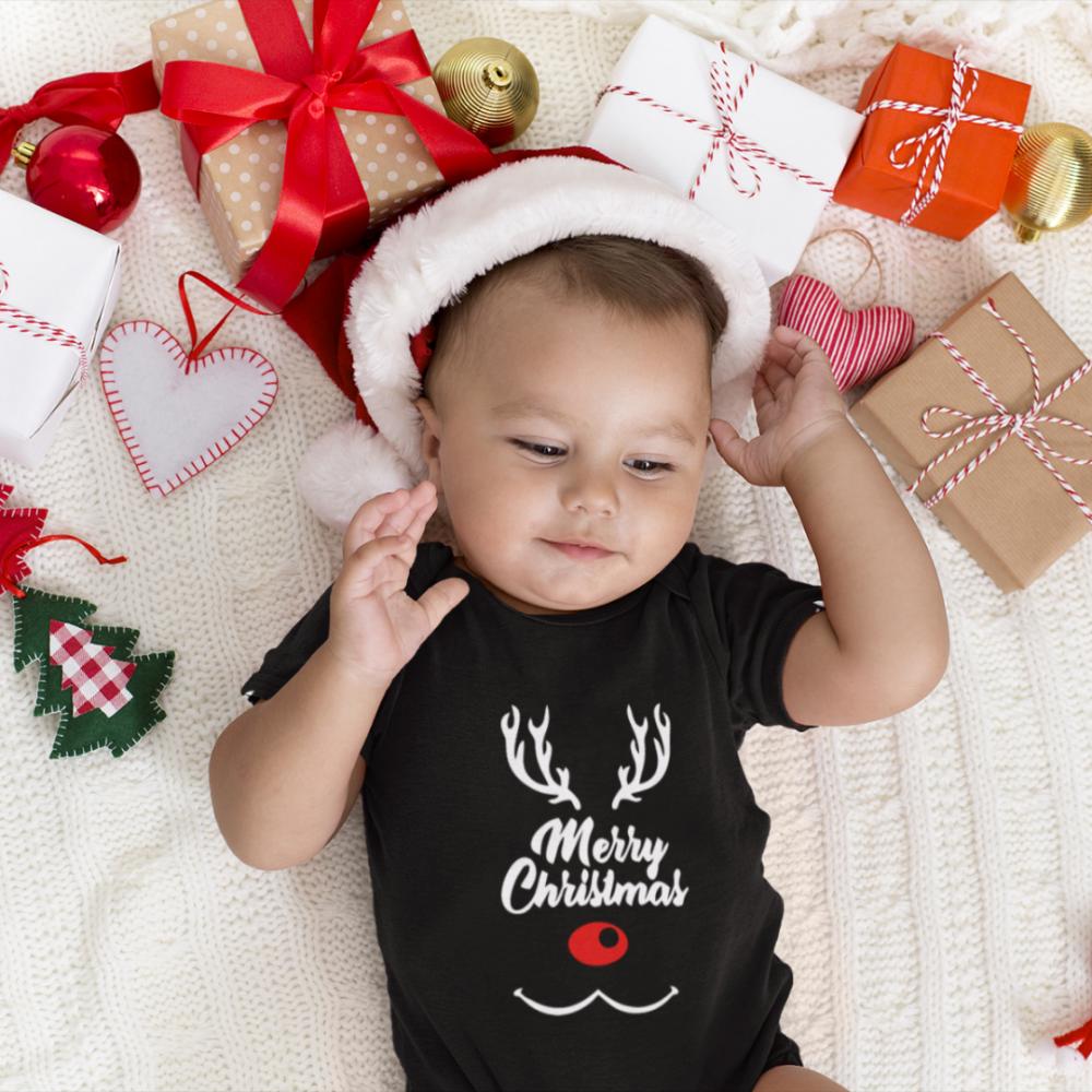 Body bebelusi pe negru Merry Deer