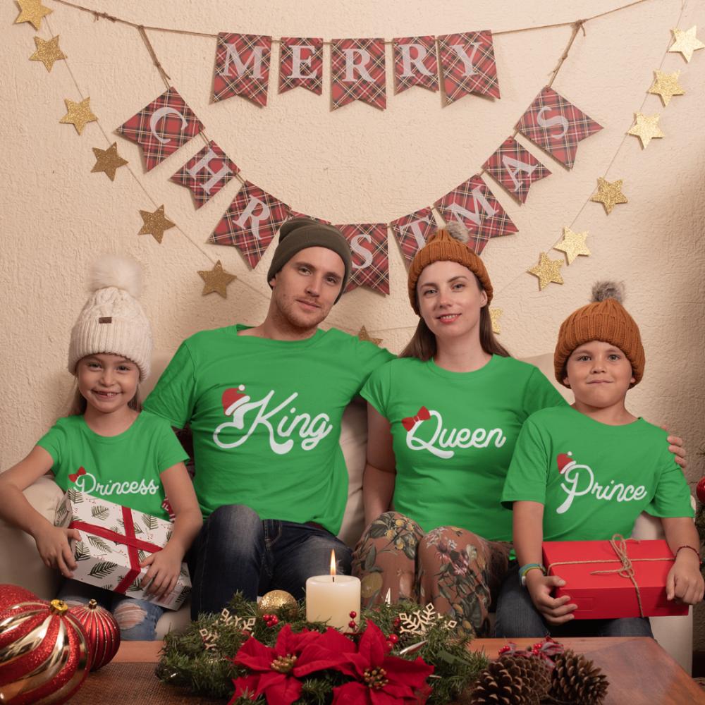 Set tricouri familie de Craciun Christmas Royal Family