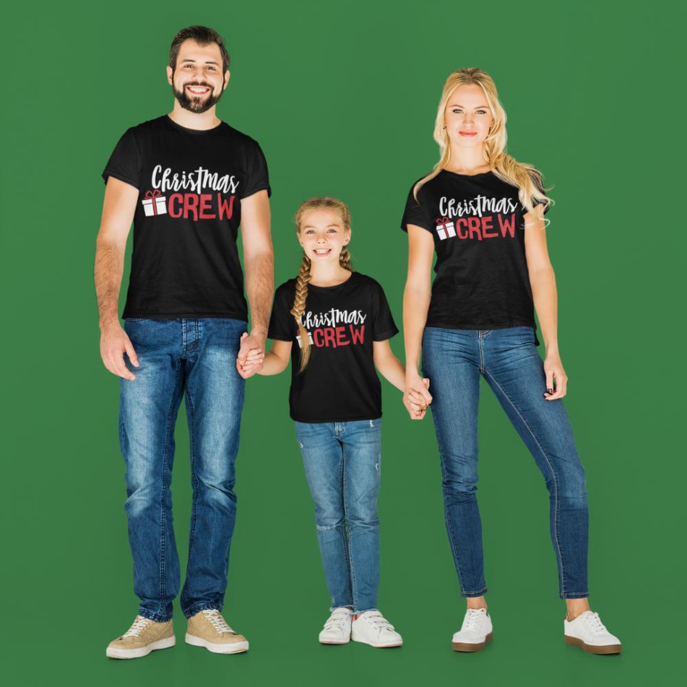 Set familie de Craciun pe negru Christmas Present