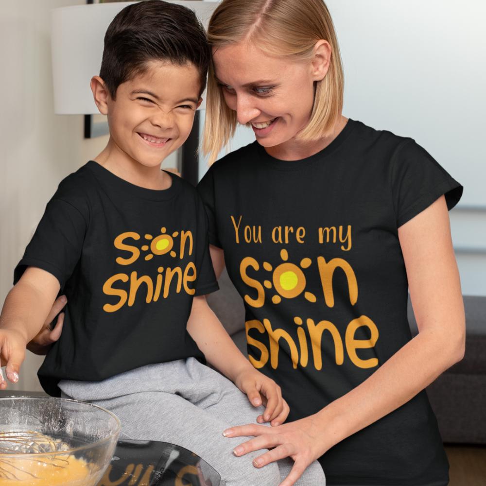 Set tricouri mama si fiu Sonshine