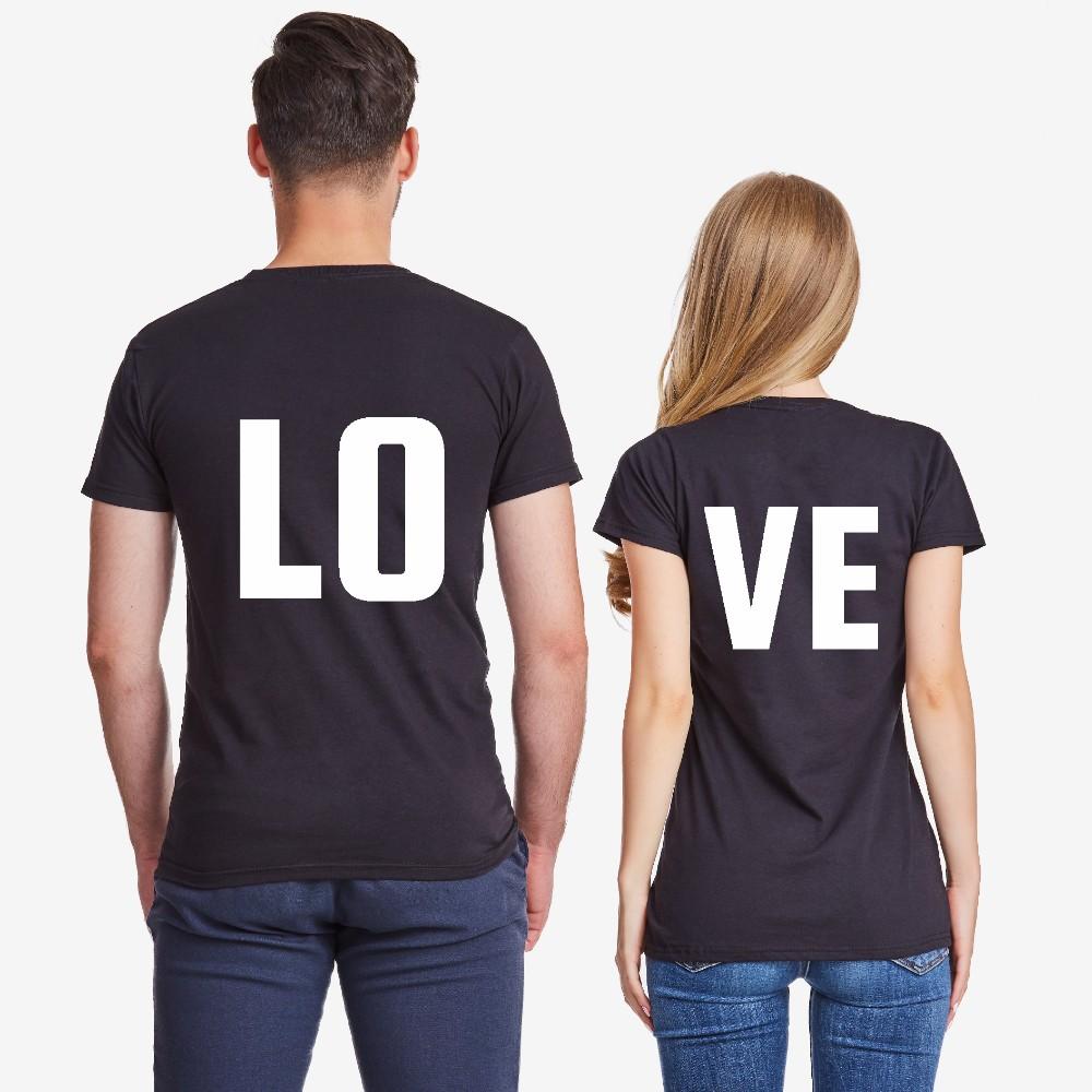 Tricouri pentru cupluri  LOVE negru