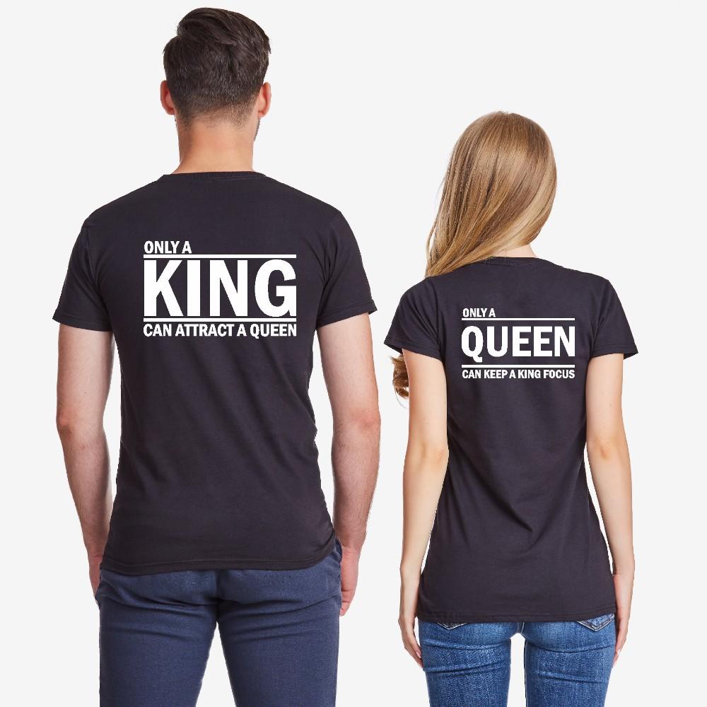 Tricouri pentru cupluri ONLY KING negru