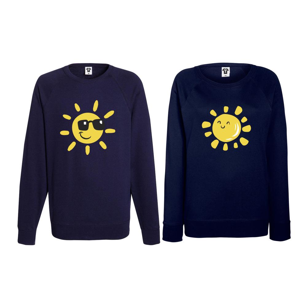 Set bluze pentru cupluri Sun, Smile and Sunglasses