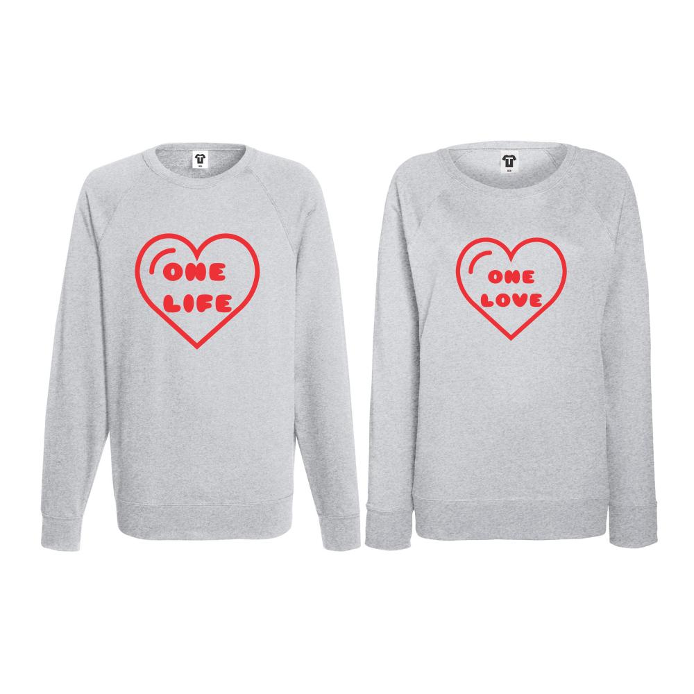 Set bluze pentru cupluri One Love