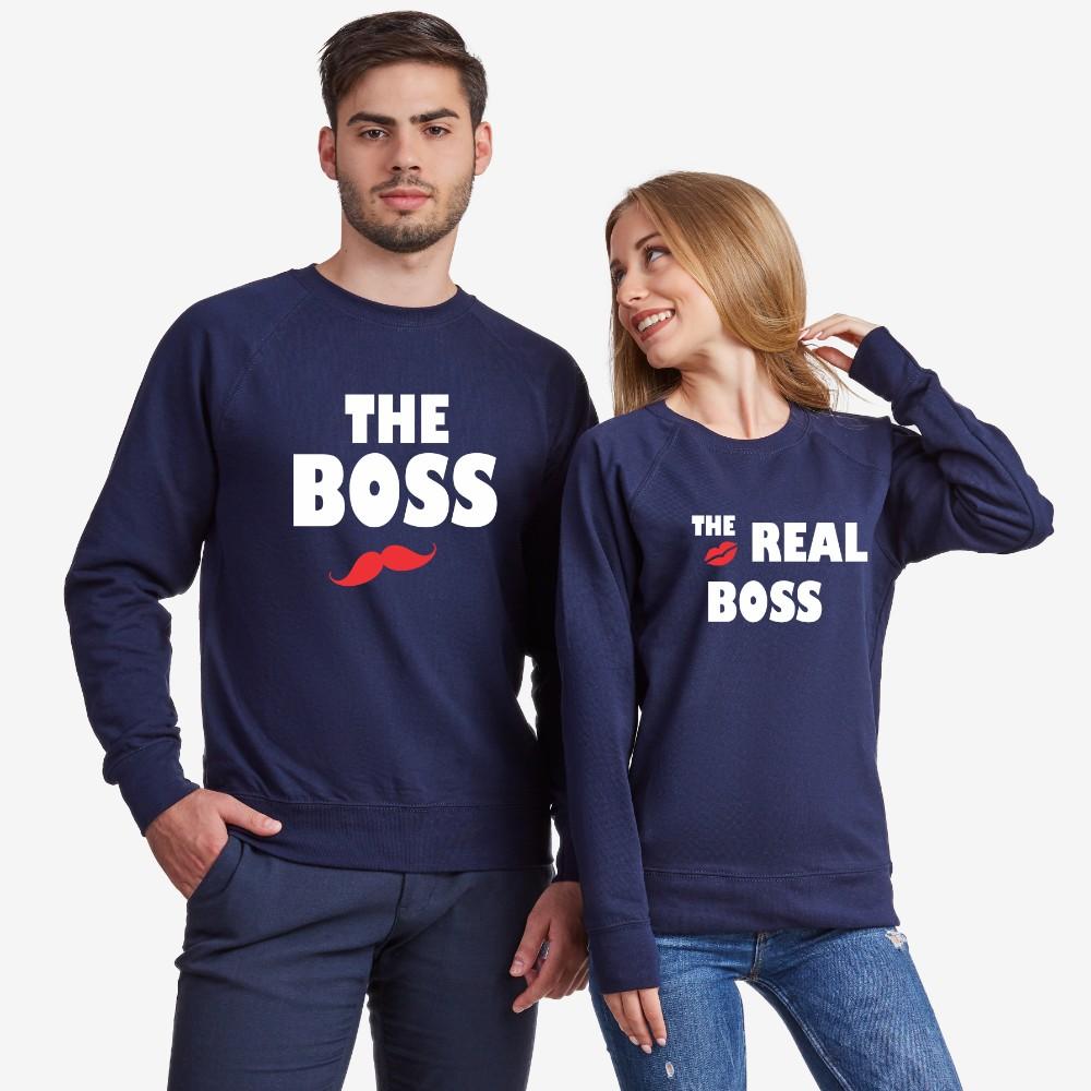 Set bluze pentru cupluri The Real Boss Kiss