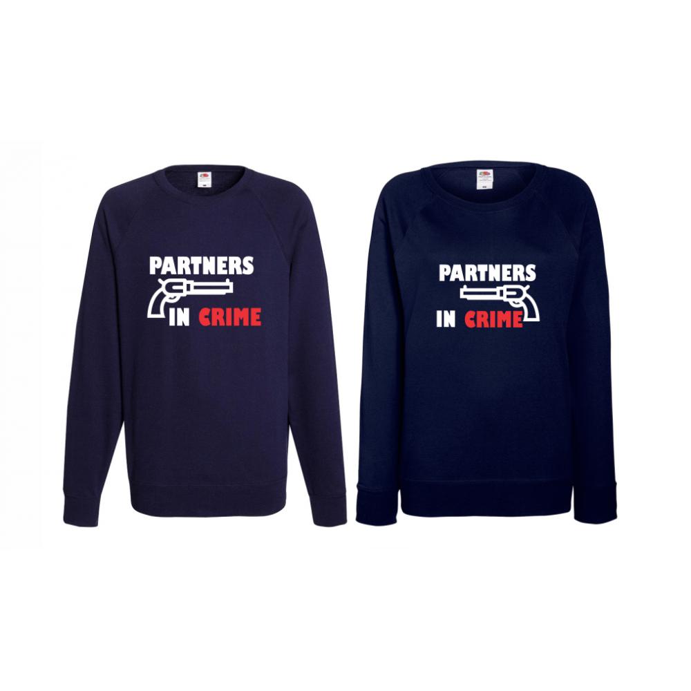 Set bluze pentru cupluri Partners in Crime