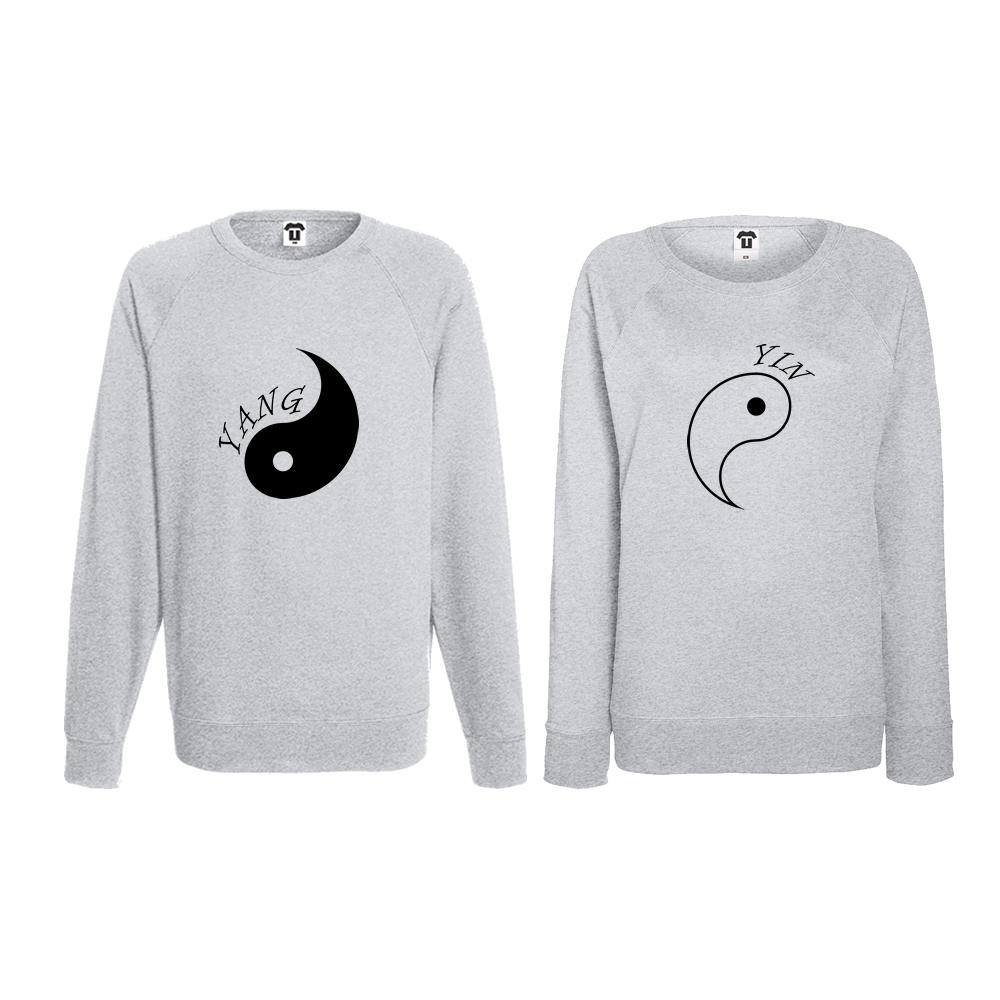 Set bluze pentru cupluri Yin Yang