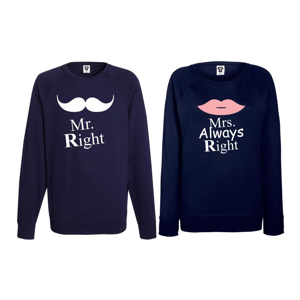 Set bluze pentru cupluri Mrs Always Right