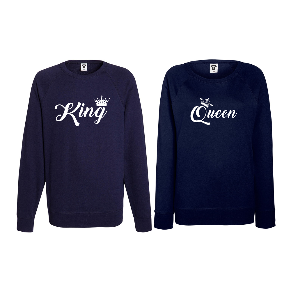 Set bluze pentru cupluri King - Queen