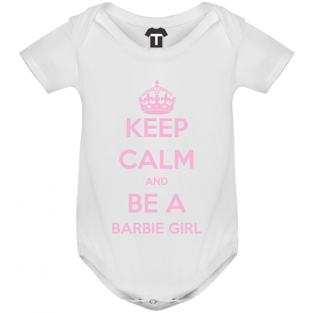 Body bebelusi Keep Calm and be a barbie girl