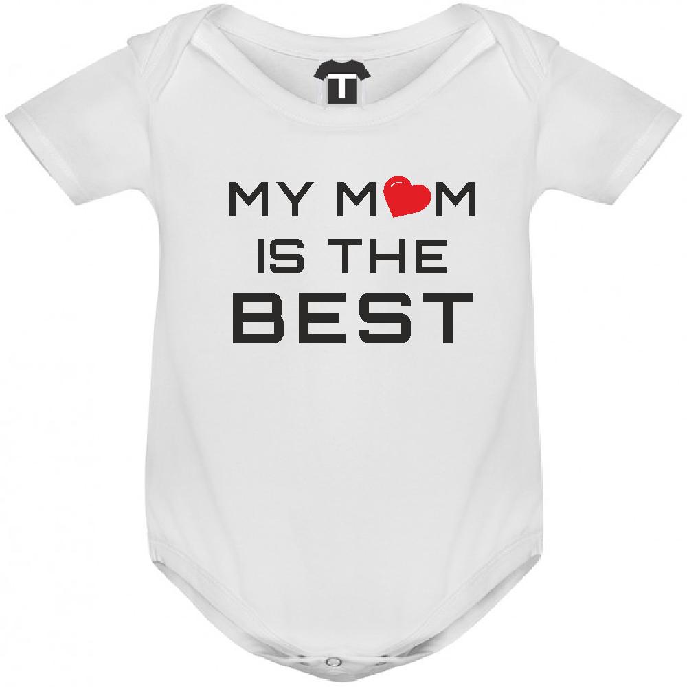 Body de bebe My Mom is The Best alb