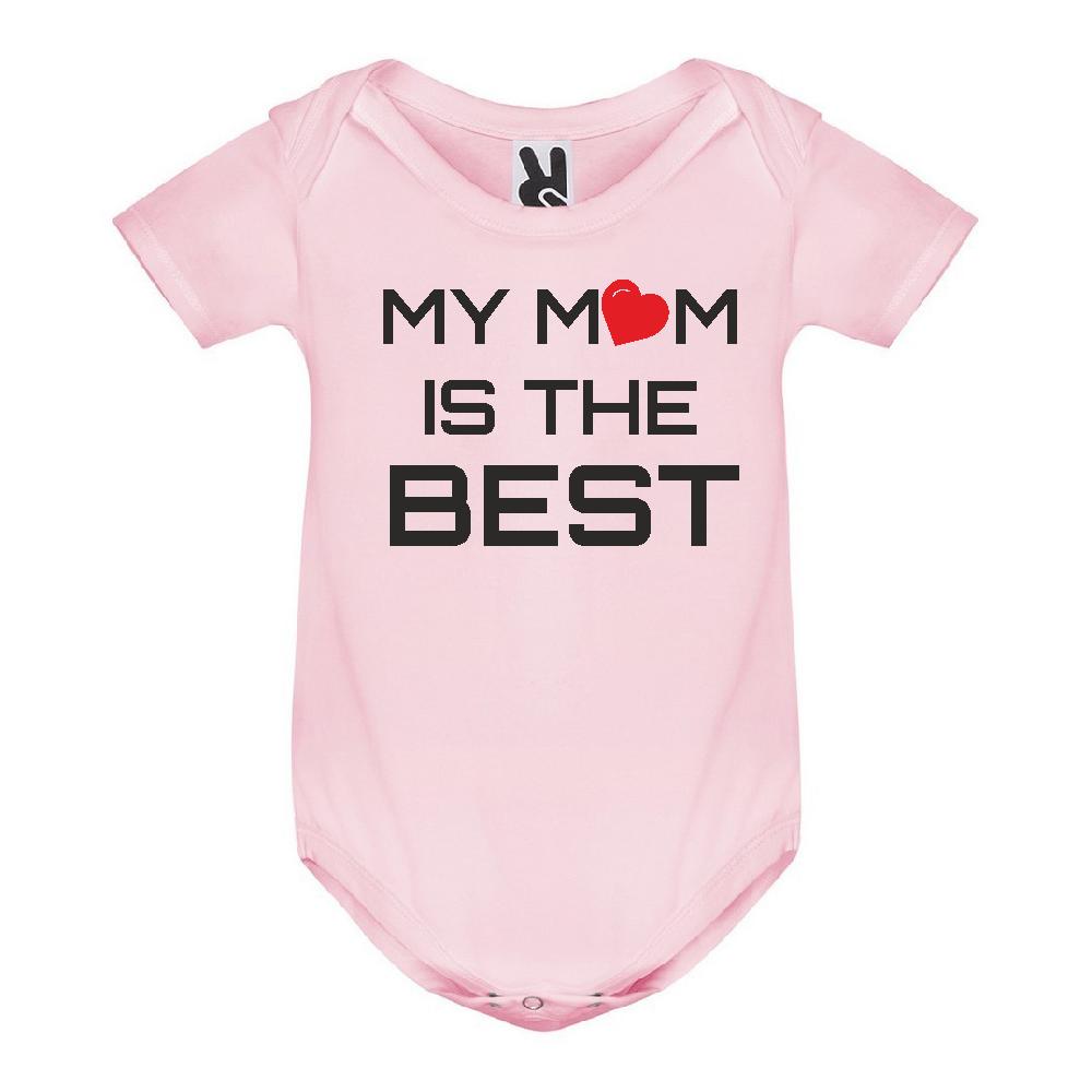 Body de bebe My Mom is The Best roz