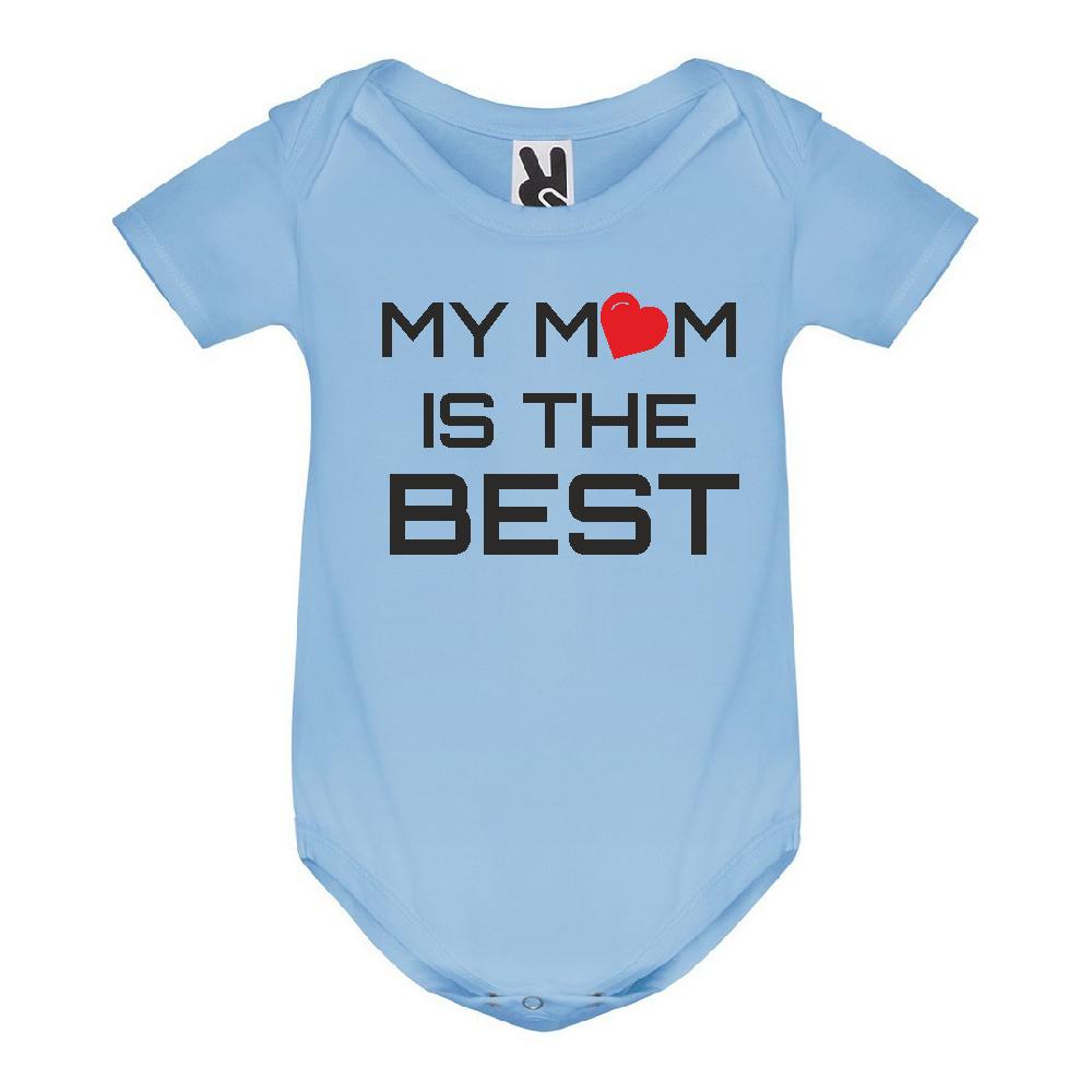 Body de bebe My Mom is The Best albastru