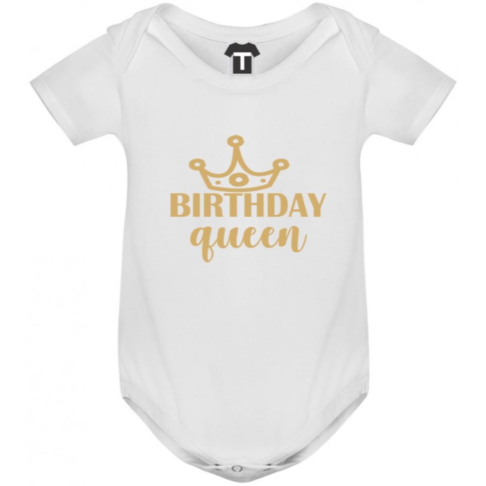 Body bebelusi Birthday Queen alb