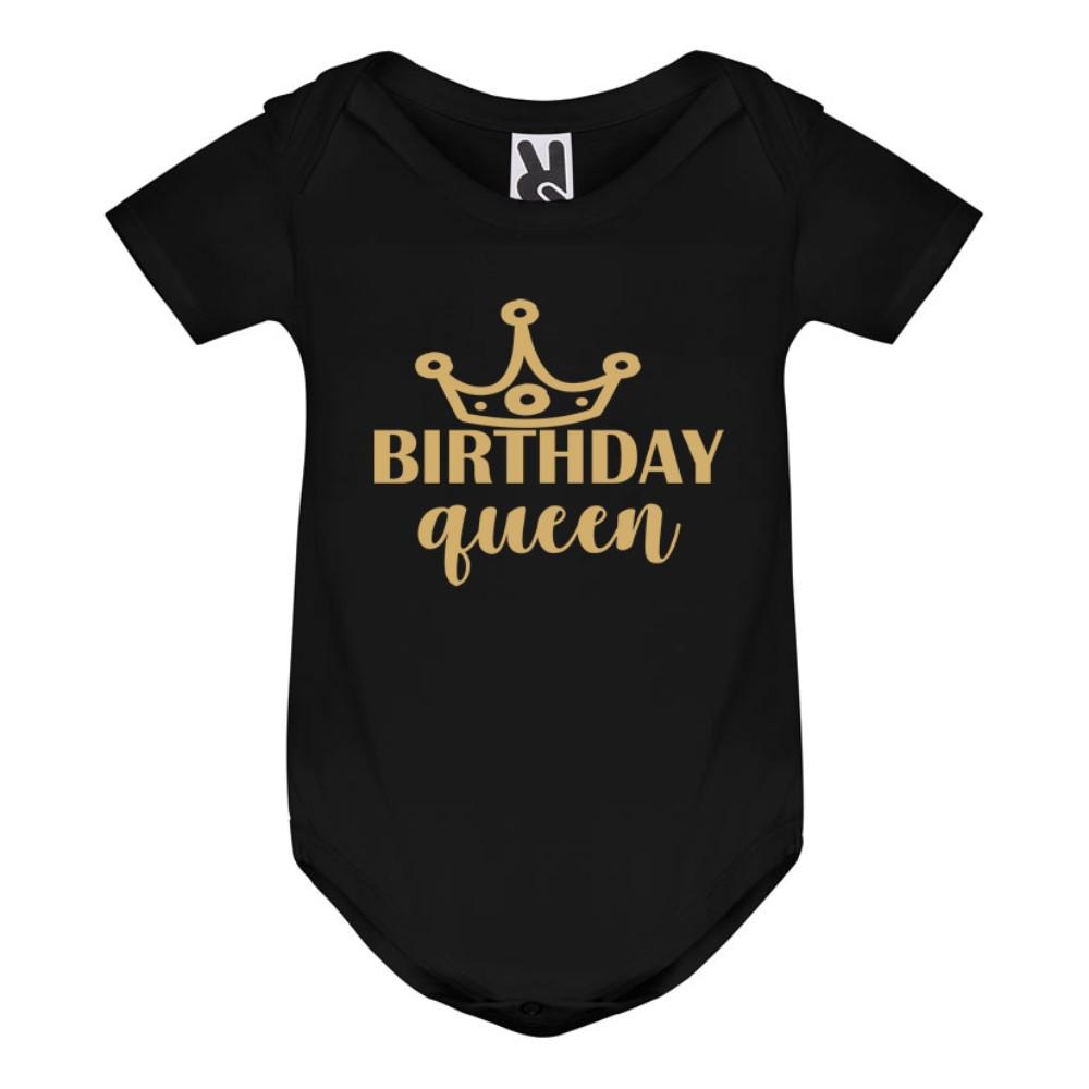 Body bebelusi Birthday Queen negru