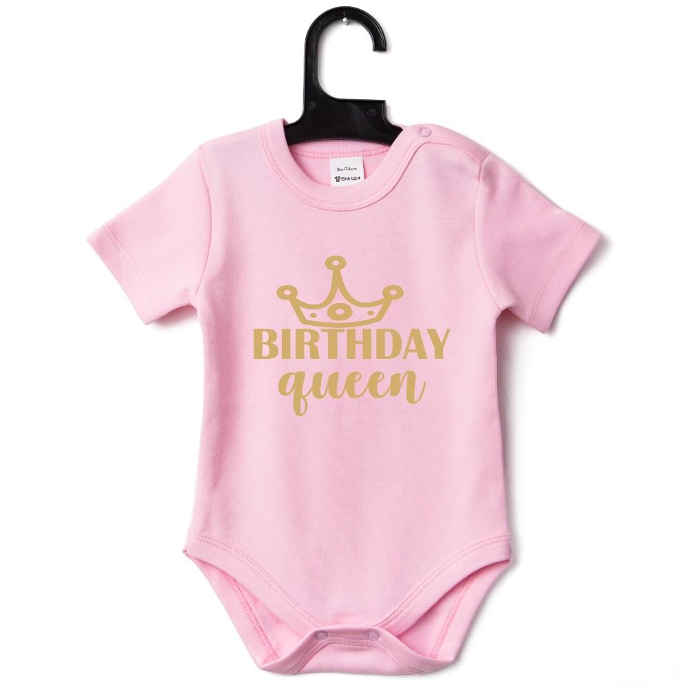 Body bebelusi Birthday Queen roz
