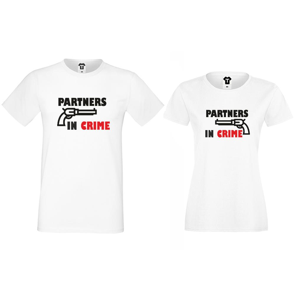 Tricouri pentru cuplu Partners in Crime