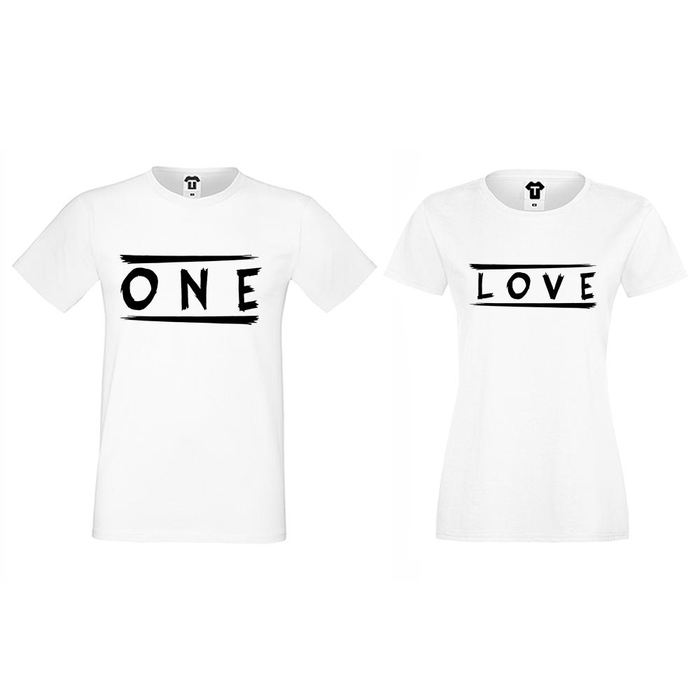 Tricouri pentru cupluri One Love