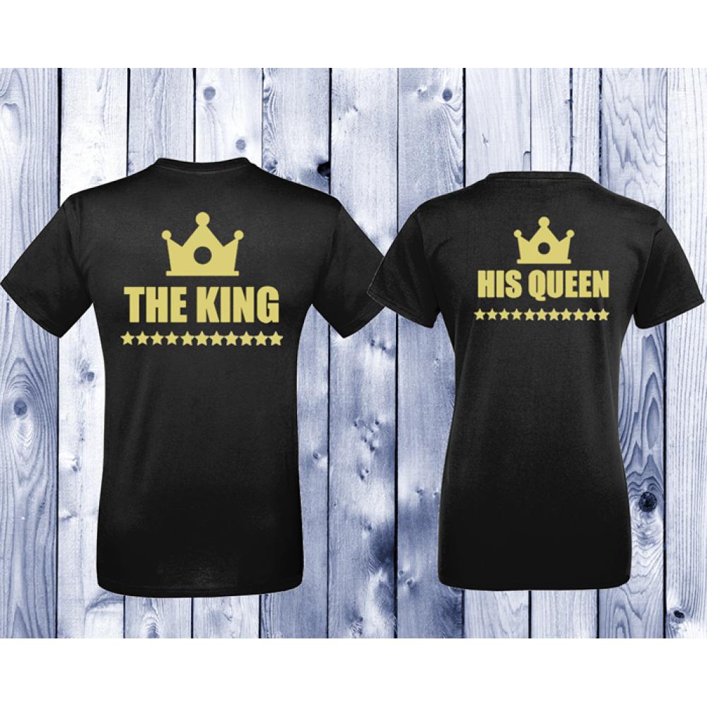 Tricouri pentru cupluri King - Queen - negru