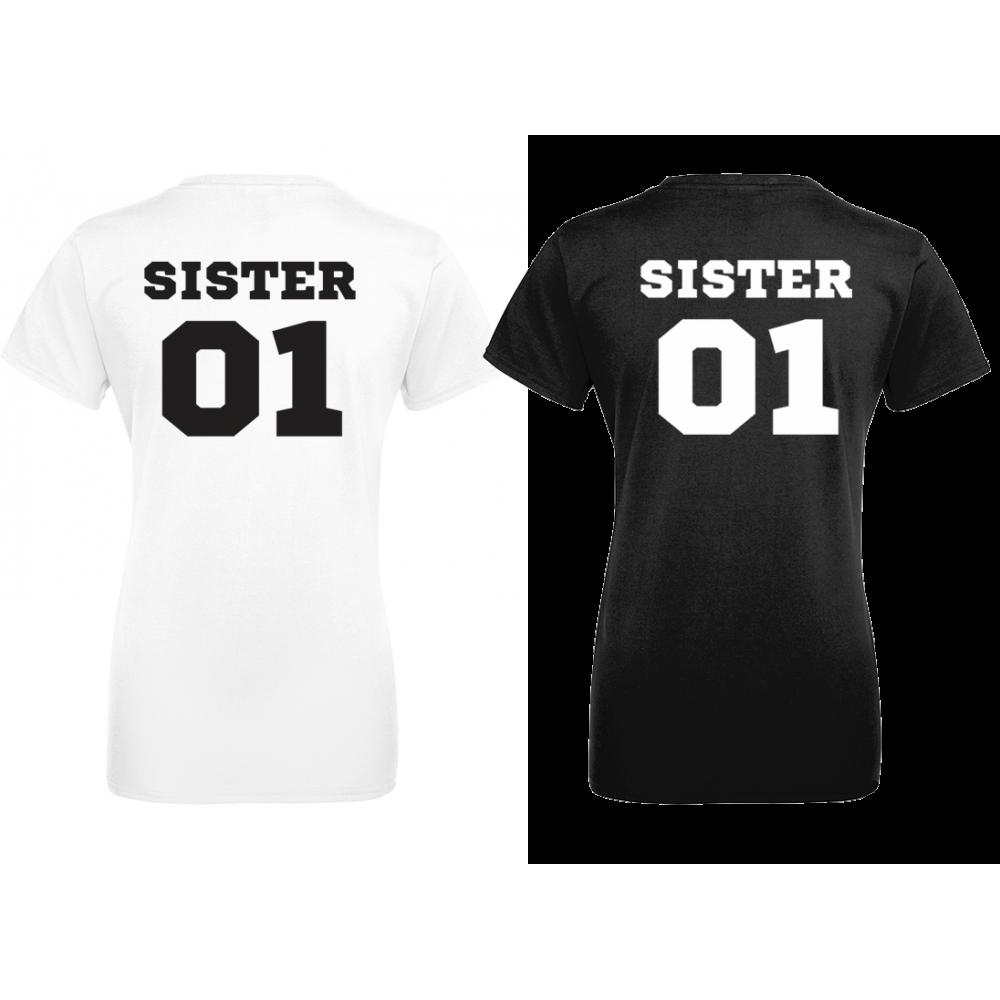 Set de tricouri SISTERS 01 - negru