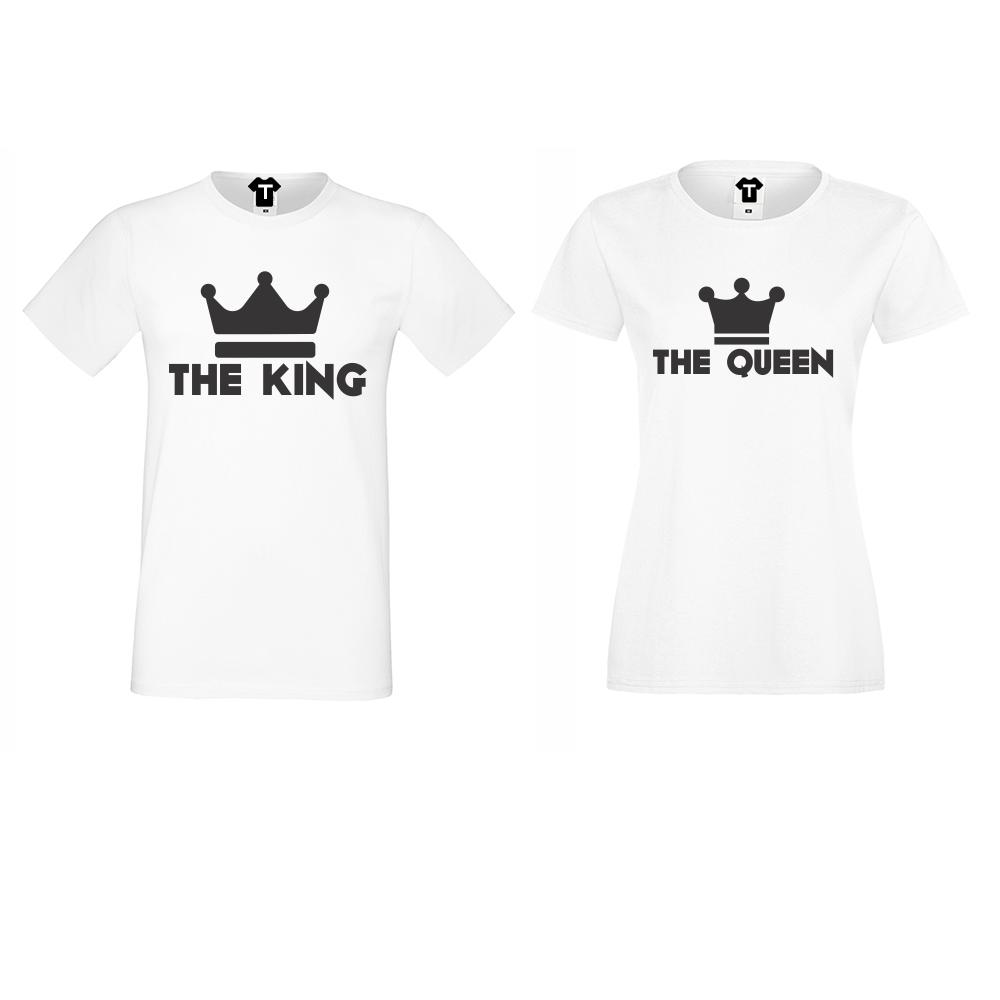 Tricouri pentru cupluri KING - QUEEN