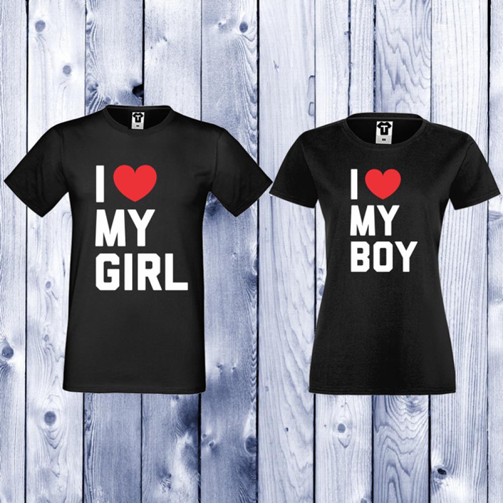 Tricouri pentru cupluri I LOVE MY BOY