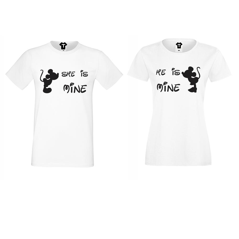 Tricouri pentru cupluri She is Mine - He is Mine