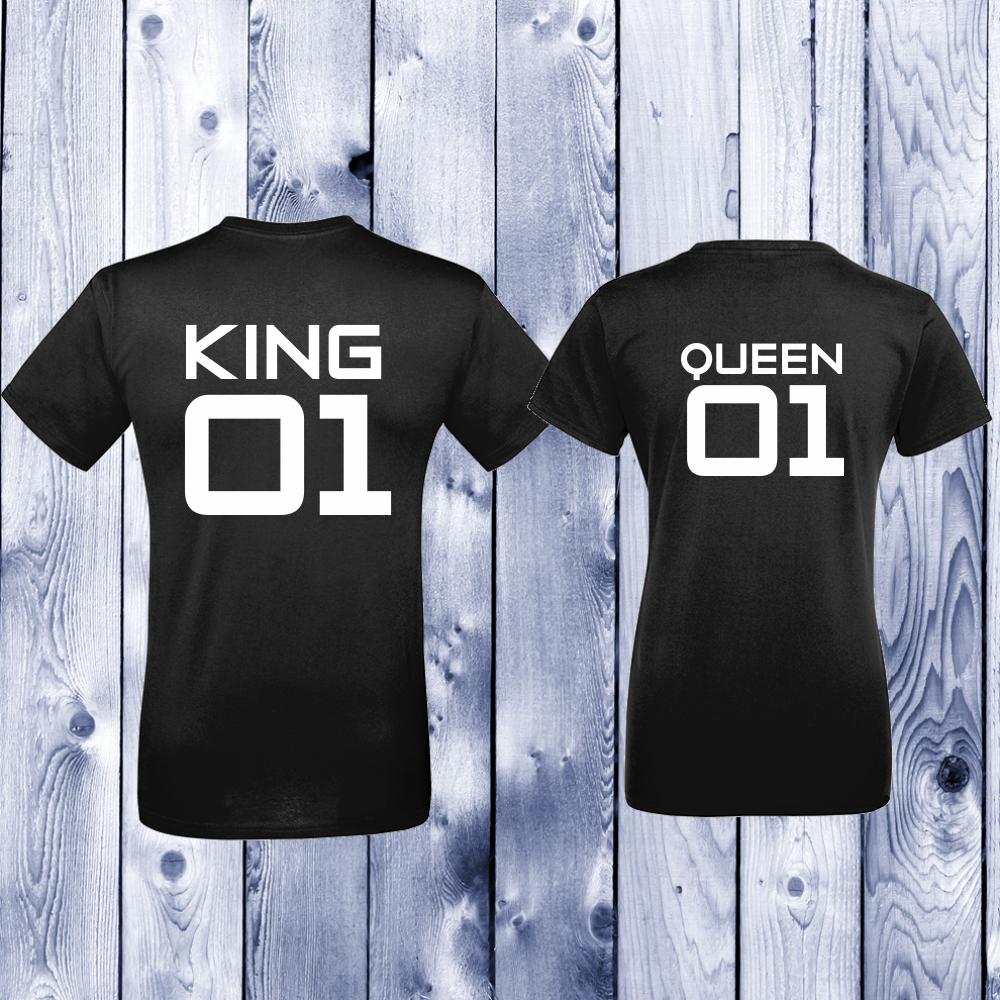 Tricouri pentru cupluri King 01 - Queen 01