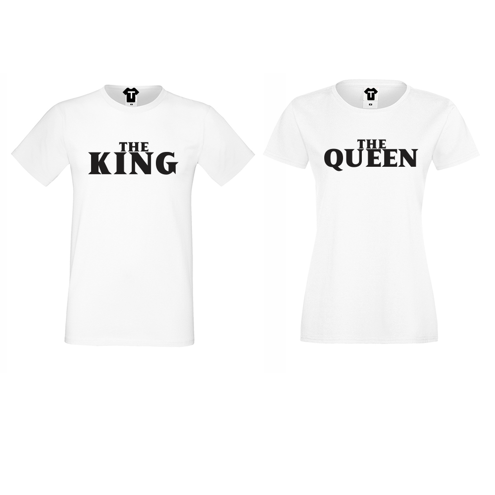 Tricouri pentru cupluri The Queen and The King