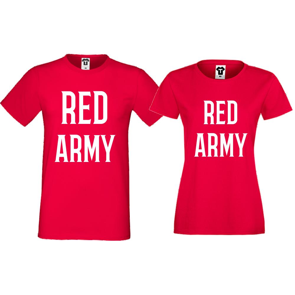Tricouri pentru cupluri RED ARMY