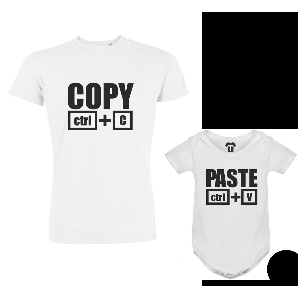 Set - tricou de barbat si body Copy - Paste