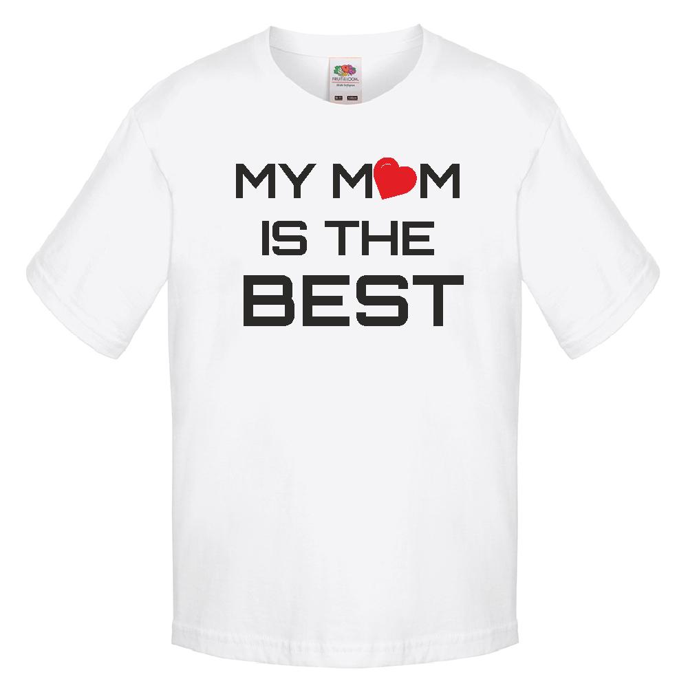 Tricou de copii My Mom is the Best alb