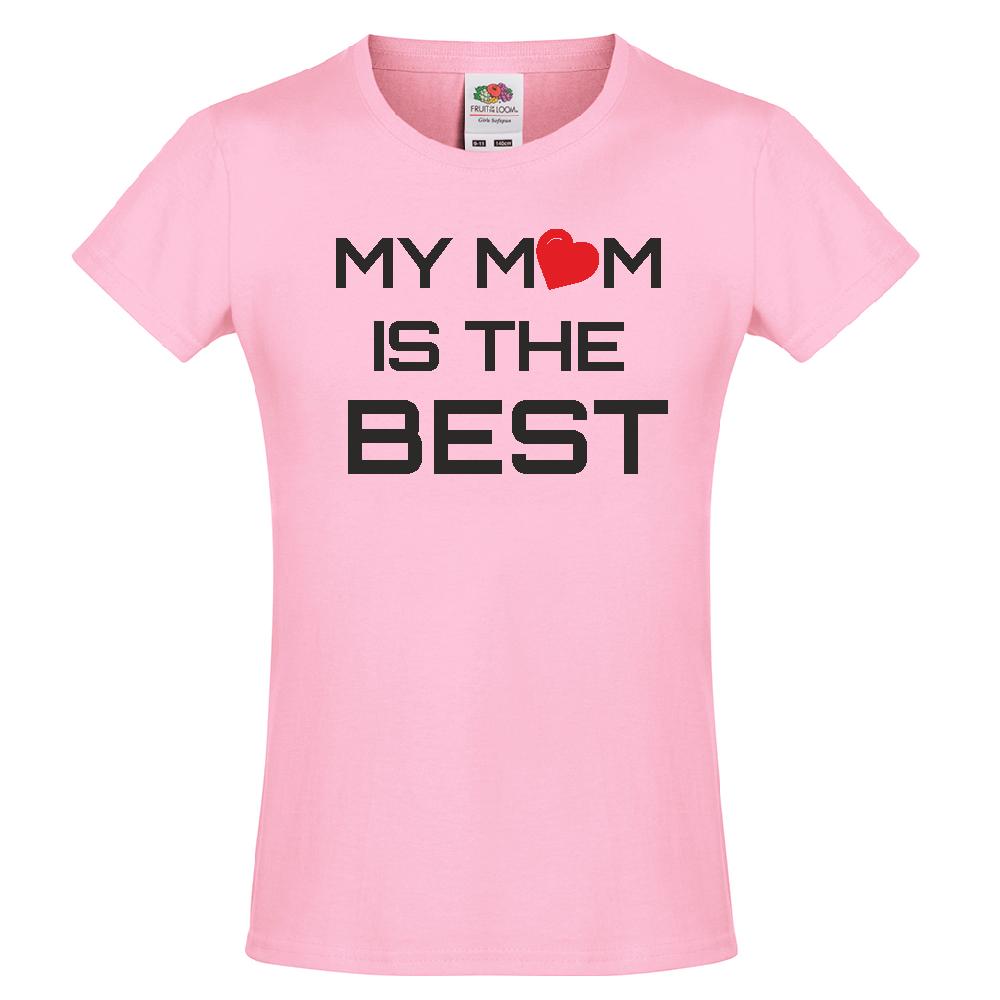 Tricou de copii My Mom is the Best roz