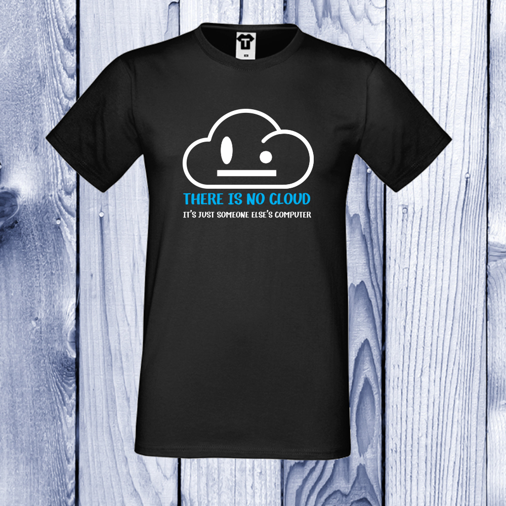 Tricou de barbat negru There is no cloud