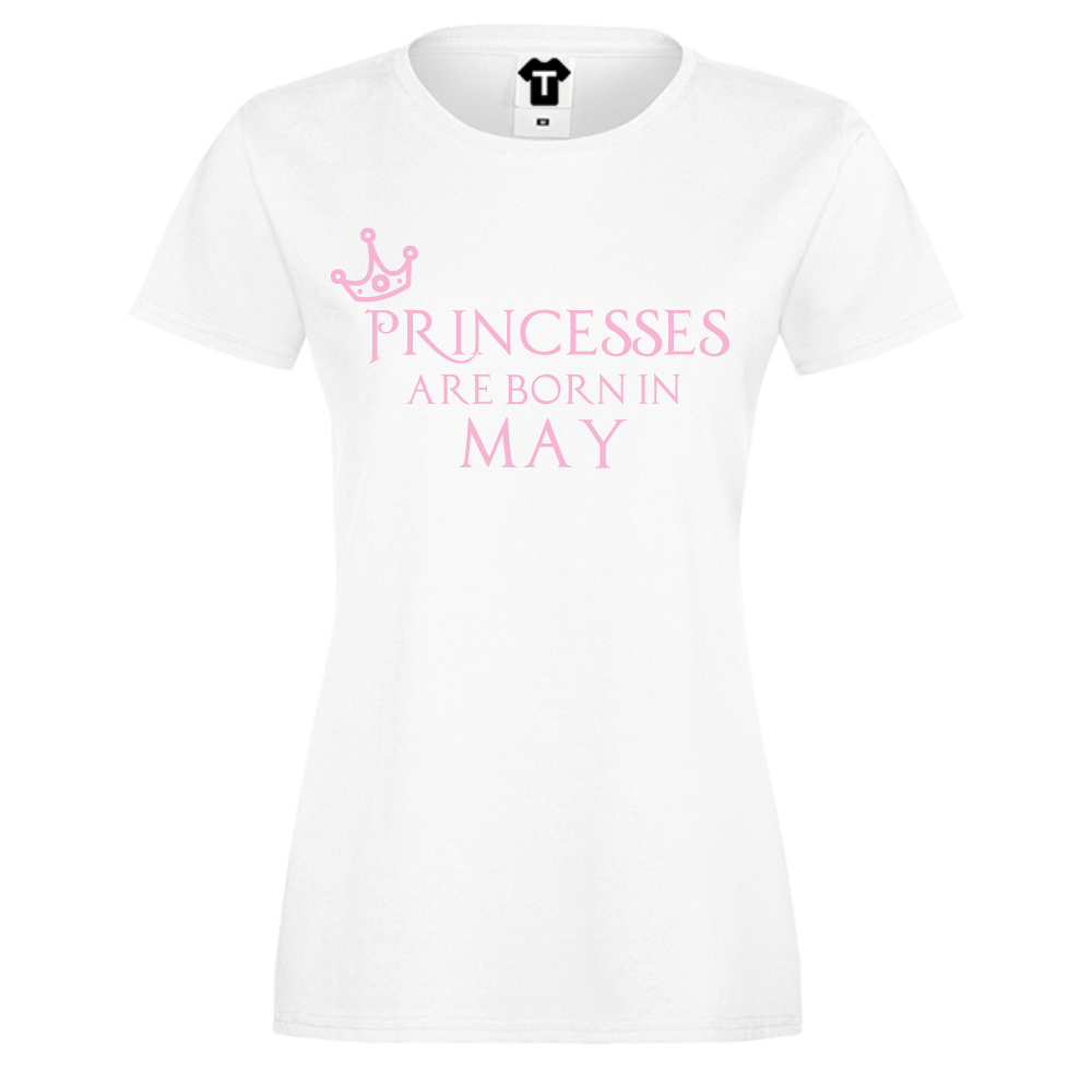 Tricou de dama Princesses Are Born In May