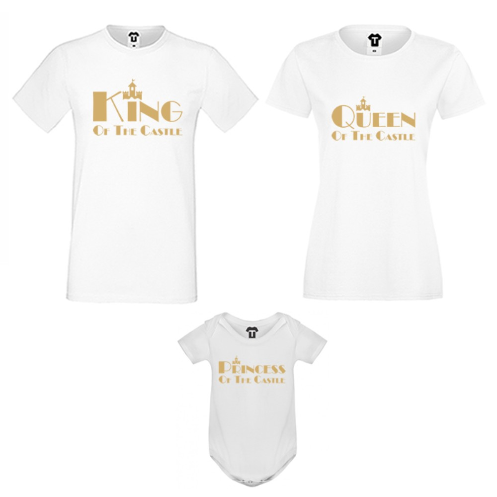 Set-uri de familie pe alb sau pe negru King, Queen and Princess of the castle